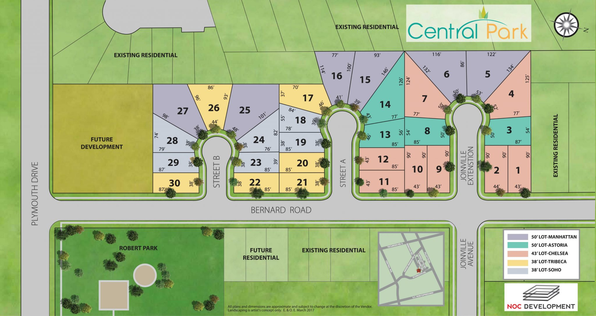 Central Park Windsor Site Plan