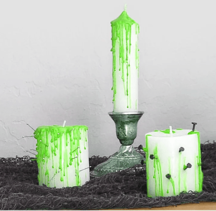 Halloween DIY | Spooky Green will also be fun as well!