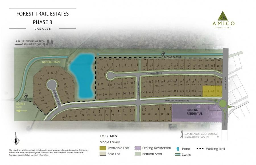 La Salle Forest Trail Estates Site Plan