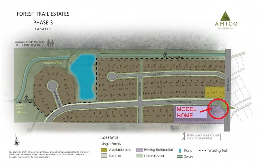 Forest Trial Estates Site Plan in LaSalle