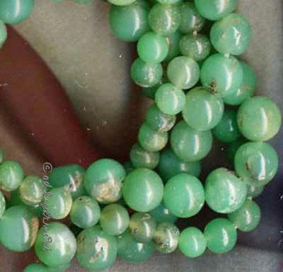Natürliche grüne Chrysocroll-Perlen