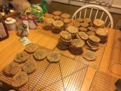 A table full of cookies (there's more by now!)