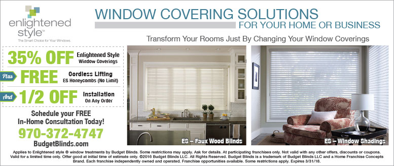 Budget Blinds Window Coverings & Installation Coupons