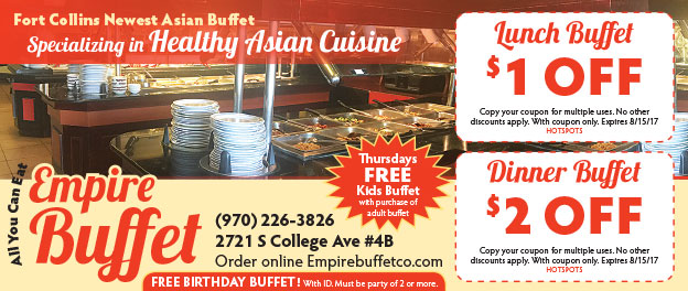 Empire Buffet Coupons