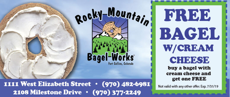 Rocky Mountain Bagel Works Coupons - Free Bagel