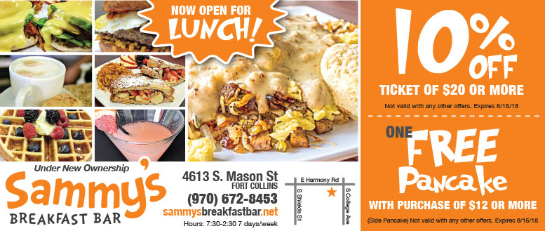 Sammy's Breakfast Bar Coupons