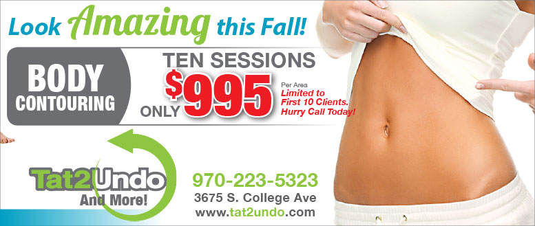 Tat2Undo Fort Collins - Body Contouring Summer Special Coupon Deal