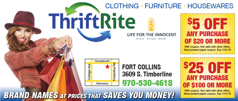Thrift Rite Fort Collins Coupons - Up to $25 Off