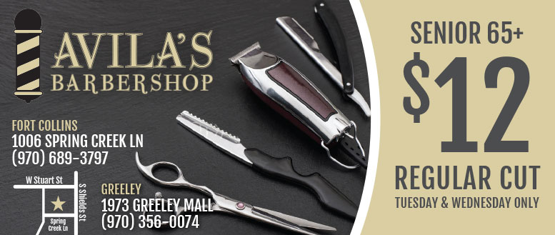 Avila's Barbershop Coupon Fort Collins & Greeley