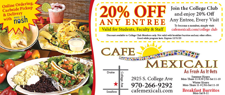 Cafe Mexicali Mexican Restaurant Coupons