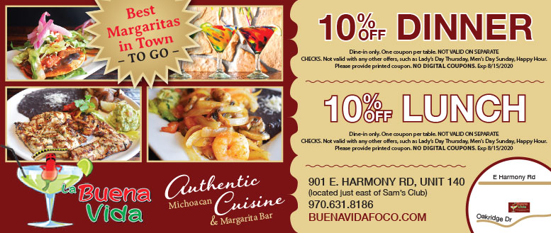 La Buena Vida Mexican Restaurant Coupons