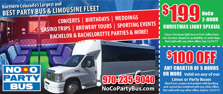 NOCO Party Bus Coupons & Deals Fort Collins