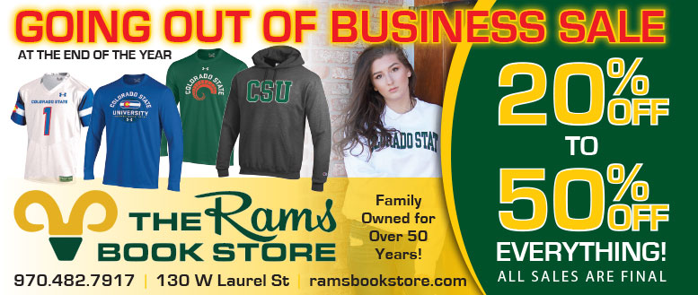Rams Bookstore CSU Apparel Coupon