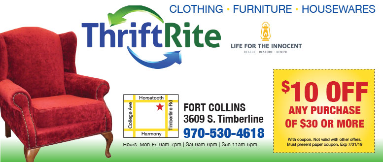 Thrift Rite Fort Collins Coupons - $10 Purchase of $50 or more