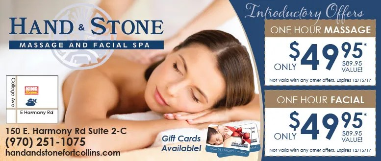 Hand & Stone Massage and Facial Coupon Deals in Fort Collins