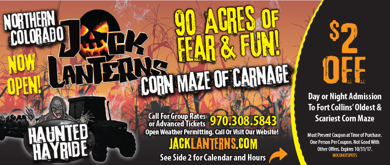 Jack Lanterns Corn Maze Coupon in Fort Collins