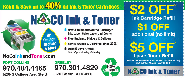 NoCo Ink & Toner - Cartridge & Toner Refill Coupon Deals