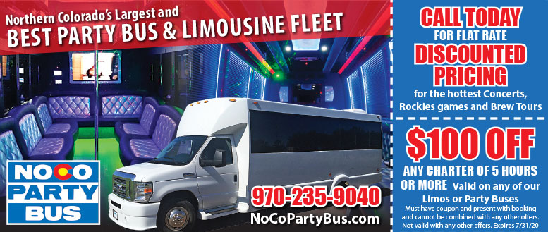 NoCo Party Bus & Limousine Coupon Deals in Fort Collins
