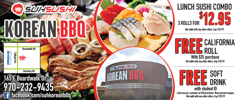 Suh Sushi Korean BBQ in Fort Collins - 20% Off Lunch