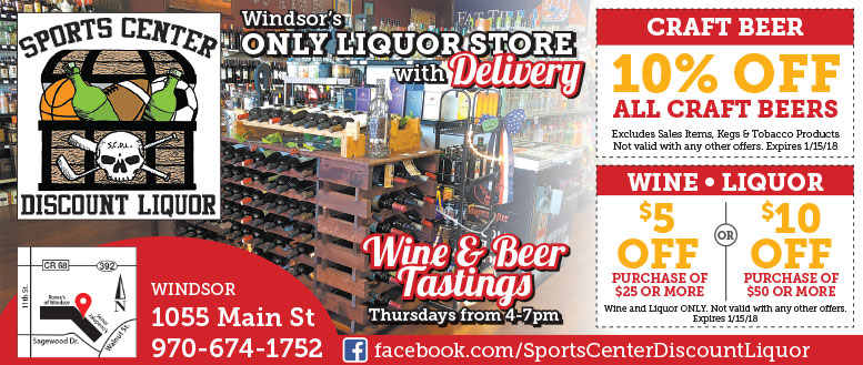 Sports Center Discount Liquor - Beer, Wine & Liquor Coupon Deals - Windsor, CO
