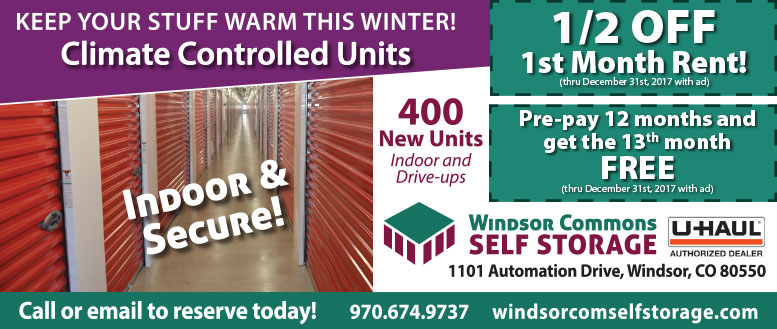 Windsor Commons Self Storage Coupon Deals - Windsor, CO