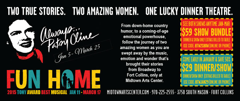 Always... Patsy Cline & Fun Home Coupons at Midtown Art Center