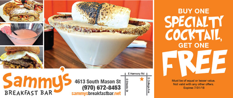 Sammy's Breakfast Bar Coupons - BOGO Specialty Cocktails