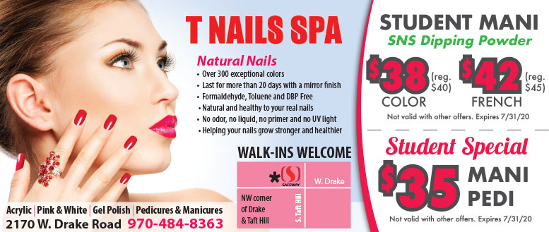 T Nails Spa - Student Special Coupon Deals in Fort Collins