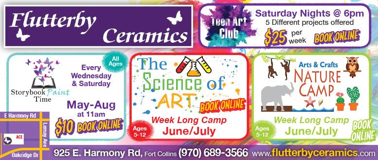 Flutterfly Ceramics Summer Art Camps for Youth in Fort Collins