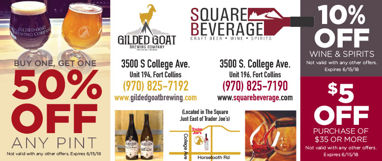 Square Beverage & Gilded Goat Coupon Deals in Fort Collins