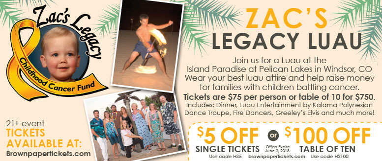 Zac's Legacy Luau Coupons - $5 Off Single Tickets or $100 Off Table of 10