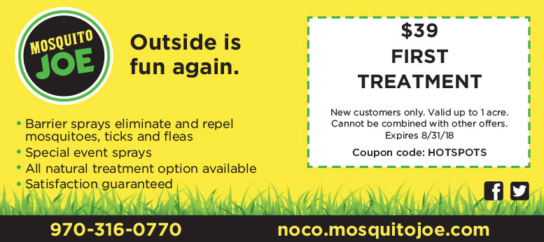 Mosquito Joes Barrier Spay Coupon Deal in Northern Colorado