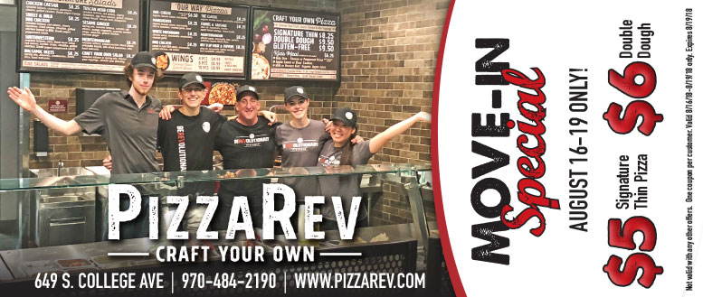 PizzaRev Fort Collins - CSU Move-in Special Coupon Deal
