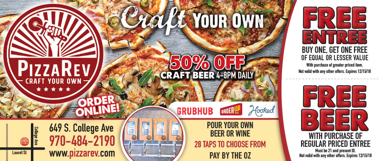 PizzaRev Fort Collins Coupons - 20% Off Coupon Deals and Tailgate Specials