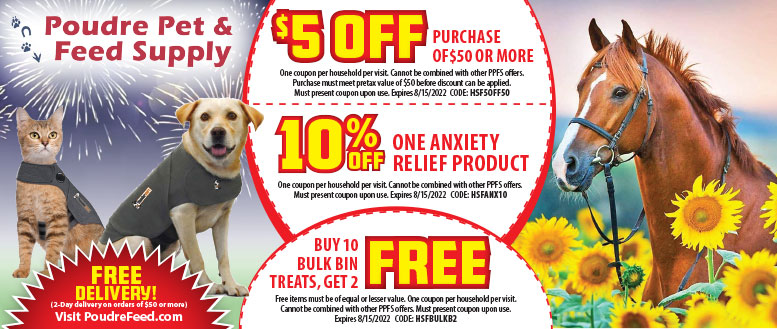 Poudre Pet & Feed Supply Fort Collins & Windsor, CO - $5 Off Coupon Deals