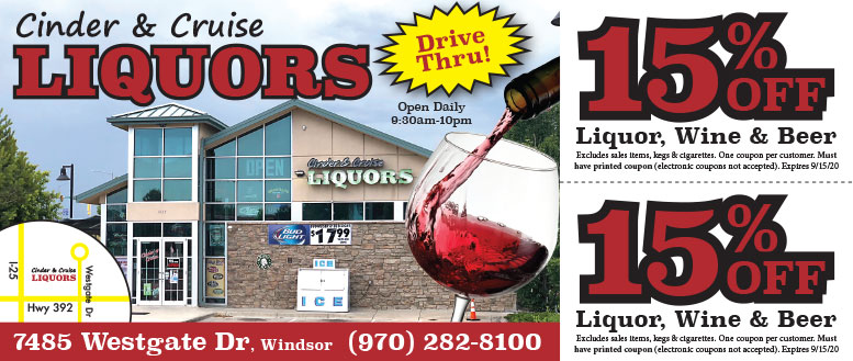 Cinder & Cruise Liquors - 15% Off Beer, Wine & Liqour