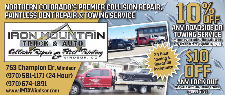 Iron Mountain Truck & Auto Collision Repair - 10% Off Roadside or Towing Service Coupon Deal