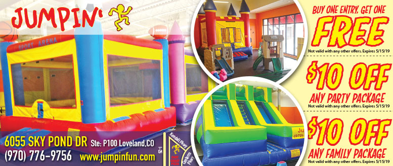 Jumpin' Kids Inflatable Play Place BOGO Free Coupon Deal