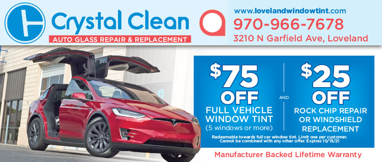 Crystal Clean Auto Window Tint & Clear Bra Coupon Deals in Loveland, CO