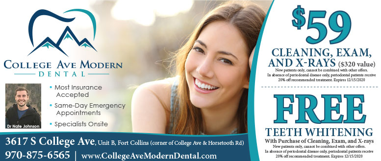 College Ave Modern Dental - Cleaning, Exam, X-Rays & Teeth Whitening Coupon Deals