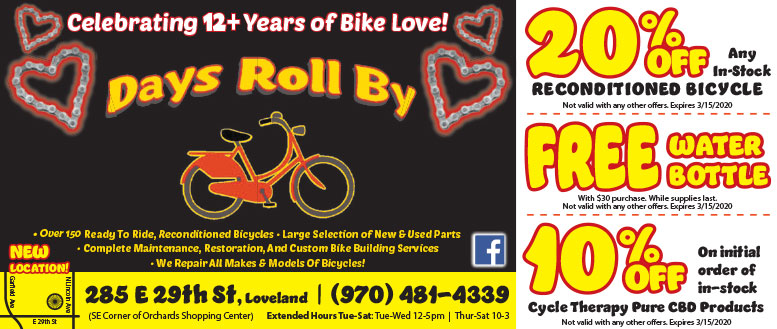 Days Roll By, Loveland, CO Coupon Deals - Save up to 30%