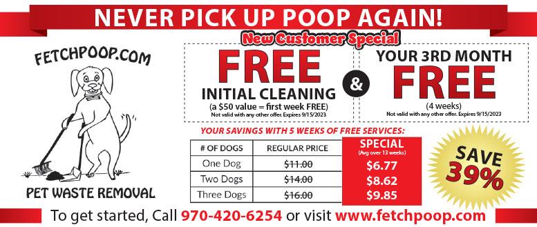 Fetch Poop Pet Waste Removal Coupon Deals