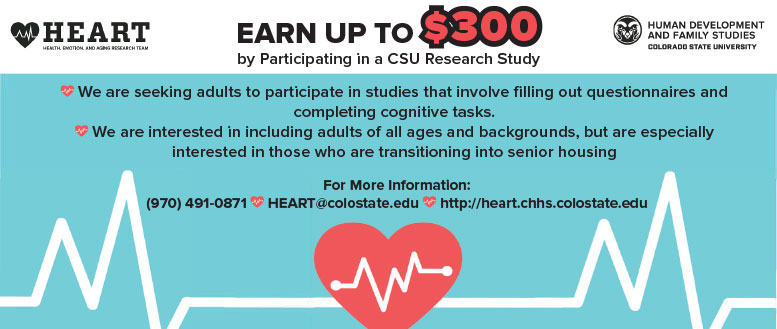Earn up to $300 by participating in a CSU Research Study