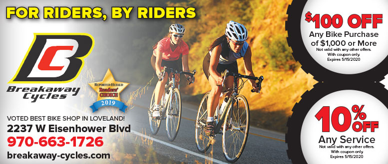 Breakaway Cycles, Loveland, CO - Bicycle and Service Coupons Deals