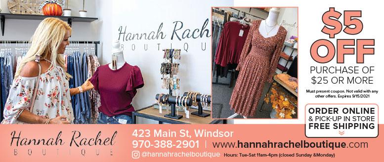 Hannah Rachel Boutique, Windsor, CO - Coupon Deals