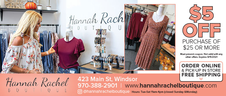 Hannah Rachel Boutique, Windsor, CO - Coupon Deals