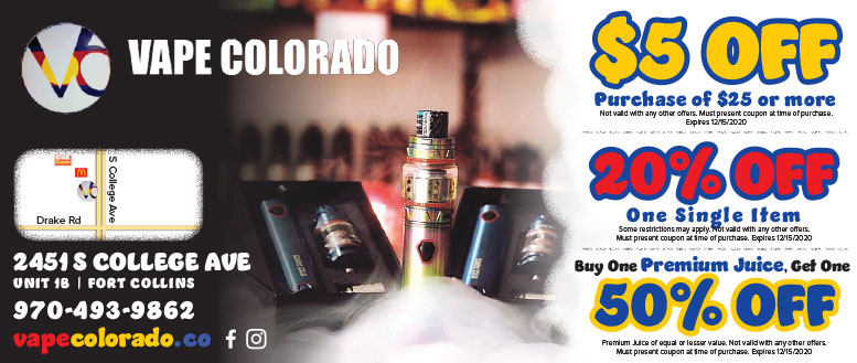 Vape Colorado, Fort Collins Coupon Deals
