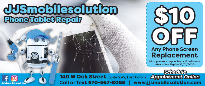 JJSmobilesolution Phone Repair, Fort Collins - Screen Repair Coupon Deal