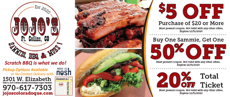 JoJo's Colorado BBQ, Fort Collins Coupon Deals