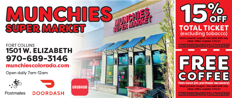 Munchies Super Market in Fort Collins, NoCo Coupon Deals. Free Coffee
